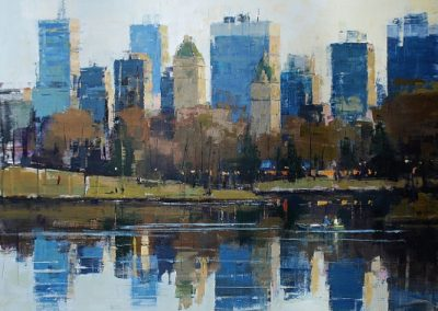 Central Park Lake Reflections