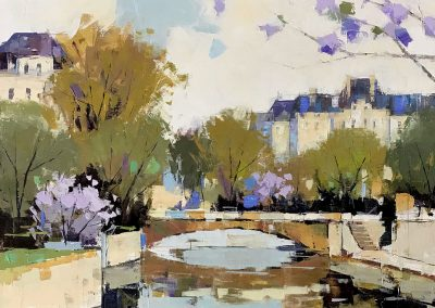 Springtime in Paris 36x36