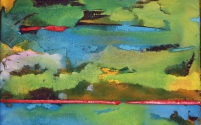 Land & Sky w/red line