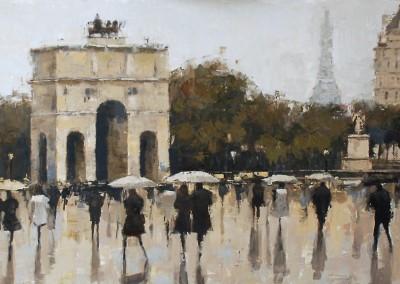 Rain on the Plaza