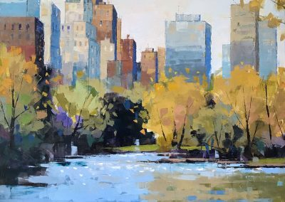 Central Park Afternoon 40x40